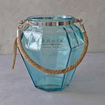 Diamond Cut Glass with Rope Handle