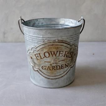 F&G Metal Pail with Handle