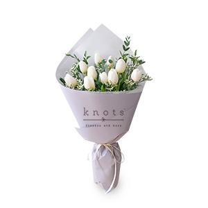 Lively Waltz (White Tulips Bouquet)