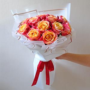 Throbbing Heartbeats (3D Ecuadorian Roses Bouquet)