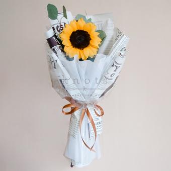 The Sun Dad Shines (1 Sunflower Bouquet)