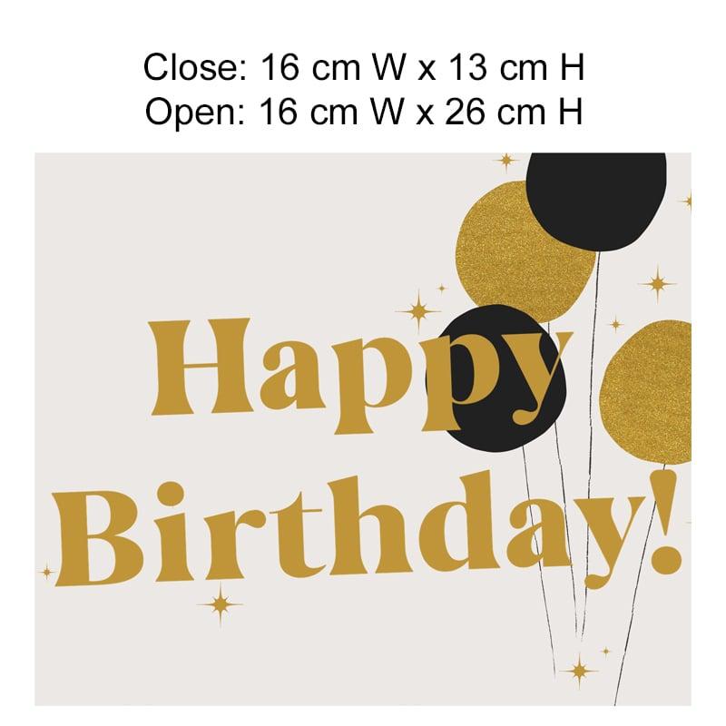 Happy Birthday (Gold Balloon)