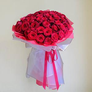 Mystifying Grace (Red Ecuadorian Roses Bouquet)
