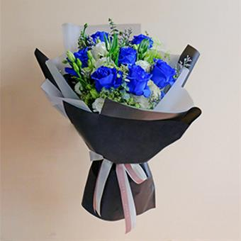 You're Exceptional (Blue Ecuadorian Roses Bouquet)