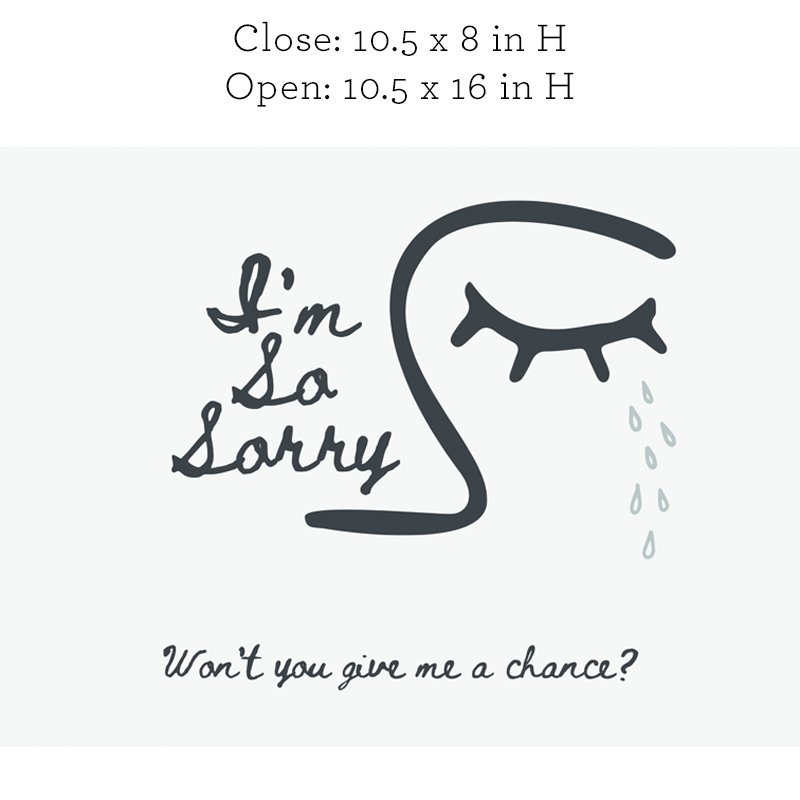 I'm so sorry, Won't you give me a chance?