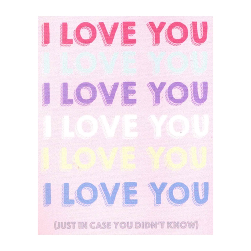 I Love You, Just In Case You Didn't Know
