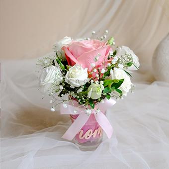 Loving Heart (Pink Rose Arrangement)