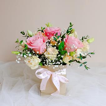 Exquisite Loveliness (Pink Roses Arrangement)