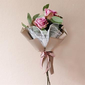 Deux (Purple Ecuadorian Roses Bouquet)