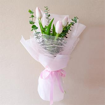 Demi (Pink Tulips Bouquet)