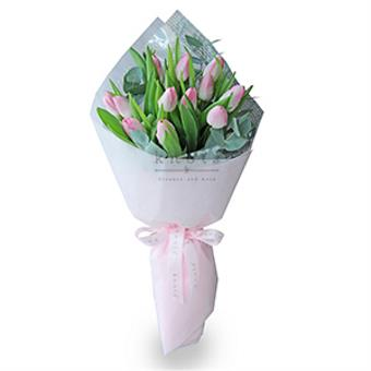 The Glamorous Pink (Pink Tulips Bouquet)