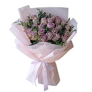 Deepest Admiration (Purple Ecuadorian Roses Bouquet)