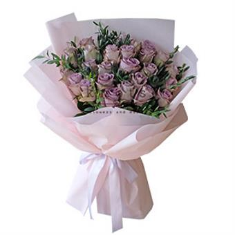 Deepest Admiration (Purple Ecuadorian Roses Bouquet)