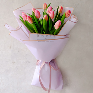 Tantalizing Reverie (Pink Tulips Bouquet)