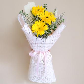 In Love With Lemon (Yellow Gerbera Bouquet)
