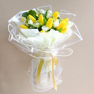 My Gorgeous Sunshine (Yellow Tulips Bouquet)