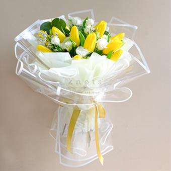 My Gorgeous Sunshine (Yellow Tulips Bouquet)