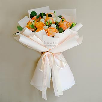 Sunset Glow (Orange Ecuadorian Roses Bouquet)