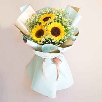 My Cheerful Lady (Sunflower Bouquet)
