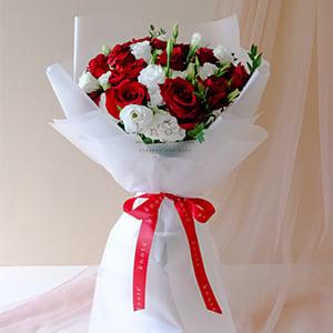 Dazzling Blinding Love (Red Ecuadorian Roses Bouquet)
