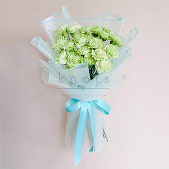 Darling Enchantment (Green Carnations Bouquet)