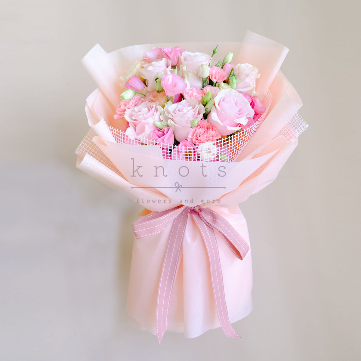 Whisper Of The Heart (Pink Roses Bouquet)