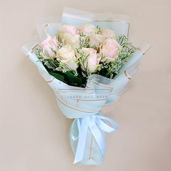 Summer Taste (Pink Ecuadorian Roses Bouquet)