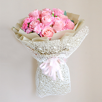 Gutsy Soul (Pink Ecuadorian Roses Bouquet)