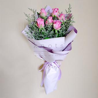Pretty in Purple (China Purple Roses Bouquet)