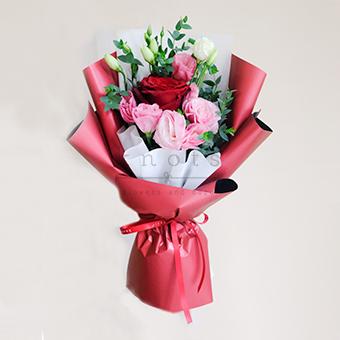 Never Apart (Red Ecuadorian Roses Bouquet)