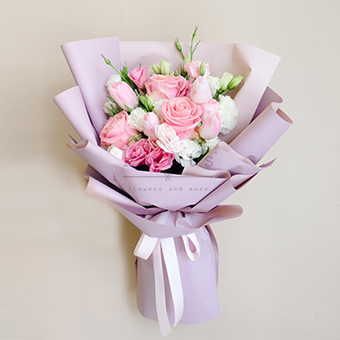Sweet Encounter (Tulips and Roses Bouquet)