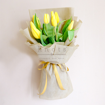 Bubbly Lullaby (Yellow Tulips Bouquet)