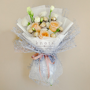 Pristine Touch ( Roses with Ferrero Rocher Chocolates)