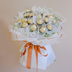 On Cloud 9 ( Gypsophila Flowers with 24 Ferrero Rocher Chocolate)