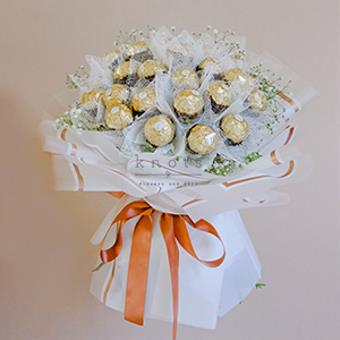 On Cloud 9 ( Gypsophila Flowers with 24 Ferrero Rocher Chocolate)